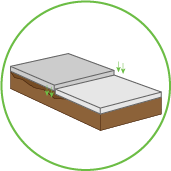 Unlevel Sinking Concrete Graphic